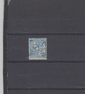A very nice old unused Monaco 25 Cents Blue issue