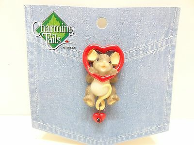 Charming Tails Leaf & Acorn Club 2010 Event Heart Lapel Pin 4017678 Mouse NEW