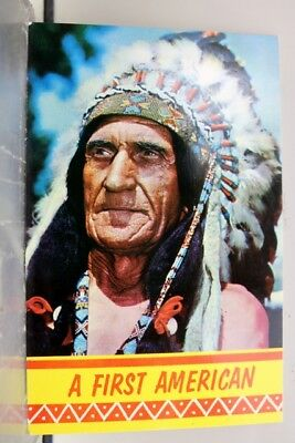 Indian A First Native American Postcard Old Vintage Card View Standard Souvenir