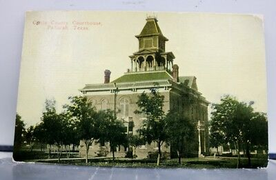 Texas TX Paducah Cattle County Court House Postcard Old Vintage Card View Post