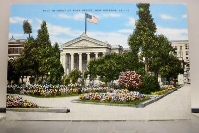 Louisiana LA New Orleans Post Office Park Postcard Old Vintage Card View Post PC