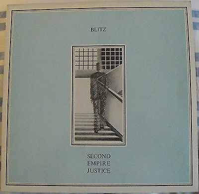 Blitz ‎– Second Empire Justice. 1983 Post Punk - New Wave - RARO Printed Holland