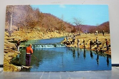 Missouri MO Cassville Roaring River State Park Early Spring Trout Fishing PC Old