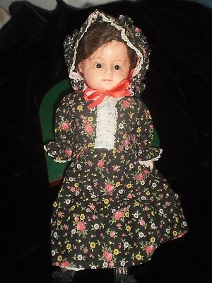 Vintage Antique Victorian Baby Doll Orig. Outfit Shoes Composition Face Hands