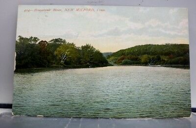Connecticut CT New Milford Housatonic River Postcard Old Vintage Card View Post