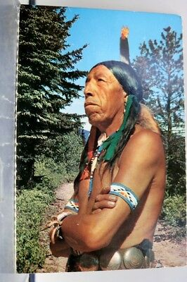 Indian Native American How Postcard Old Vintage Card View Standard Souvenir Post