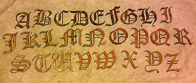 3 inch Alphabet PER LETTER Rough Rusty Metal Vintage Gothic Old English Stencil