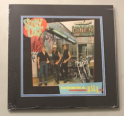 STRAY CATS Band Dual Signed Record Album 2 AUTO 's Matted 16x16 JSA COA