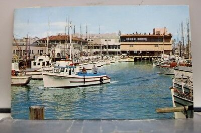 California CA San Francisco Fisherman's Wharf Postcard Old Vintage Card View PC