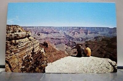 Arizona AZ Grand Canyon Bright Angel Overlook Postcard Old Vintage Card View PC