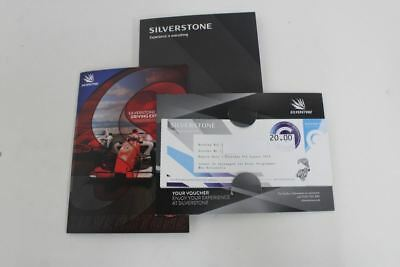 15x SILVERSTONE Experience Is Everything £20 Gift Vouchers Exp 08.18 £300 Total