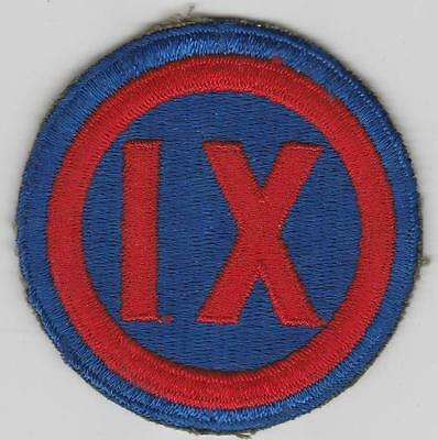 WW 2 US Army 9th Corps Patch Inv# JQ116