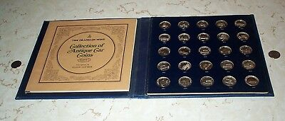 Franklin Mint Antique Car Sterling Silver Coin Collection Series 1 Proof Set