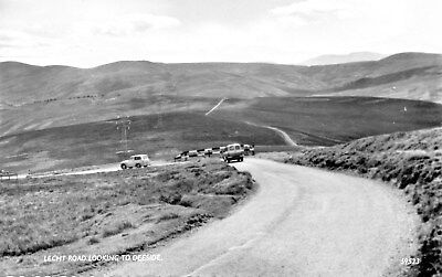 Lecht Road Looking towards Royal Deeside,Photographic Postcard.See Scans