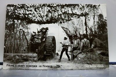 France Firing Heavy Howitzer Postcard Old Vintage Card View Standard Souvenir PC