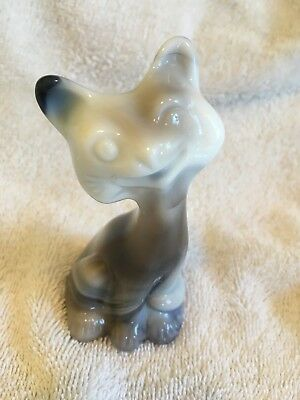 Fenton Art Glass Multi Color Slag Glass Smiley Alley Cat Figurine FAGCA NR