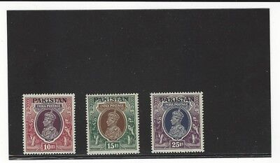 High Denomination Stamps From Pakistan's First Issue Unused