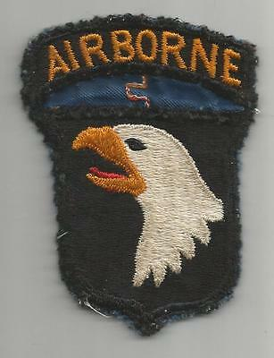 WW 2 US Army 101st Airborne Division Patch Off Uniform Inv# A529
