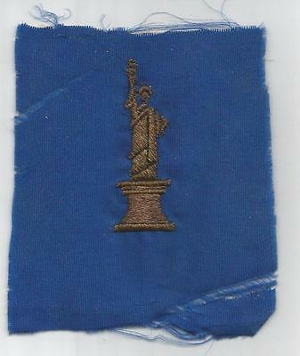 Bullion French Made WW 1 US Army 77th Division Patch Inv# A553