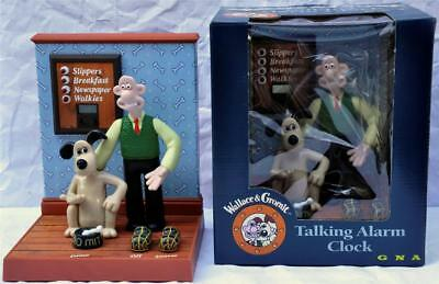 Wallace & Gromit Talking Alarm Clock Restored to Mint in Box !c: