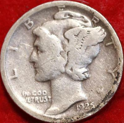 1925-D Denver Mint Silver Mercury Dime Free Shipping