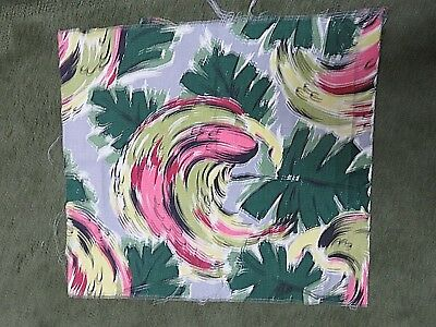 "VINTAGE 21"" by 18"" PIECE OF BARKCLOTH"