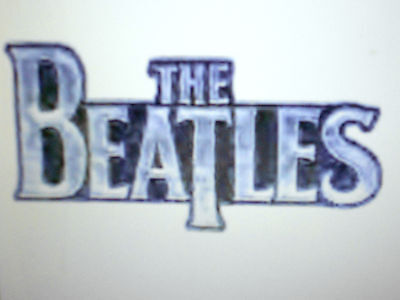 """The Beatles Chrome Logo Embroidered Patch 3 3/4"""" X 2"""" New"""
