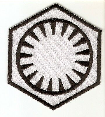 + STAR WARS  Aufnäher Patch FIRST ORDER weiss white