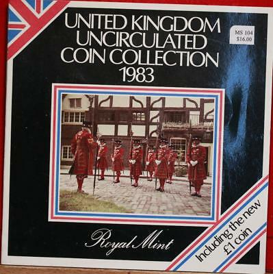 Uncirculated 1983 United Kingdom Coin Collection Free S/H