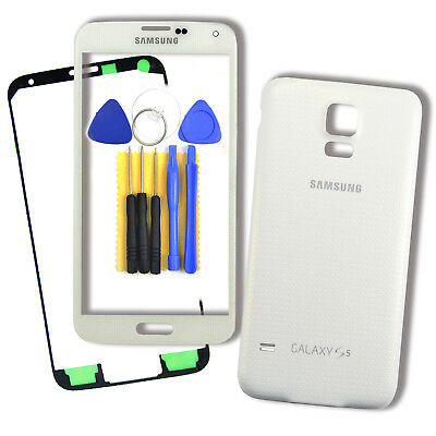 NEW White Glass Screen & Battery Back Cover For Samsung Galaxy S5 SV