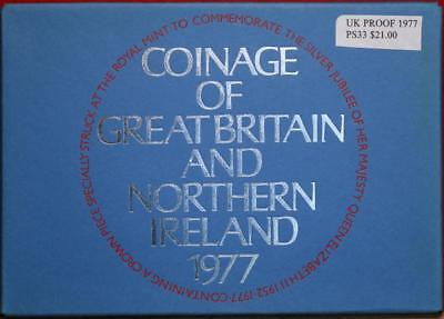 Uncirculated 1977 Coinage Of Great Britain & Northern Ireland Proof Set Free S/H
