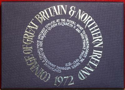 Uncirculated 1972 Coinage Of Great Britain & Northern Ireland Proof Set Free S/H