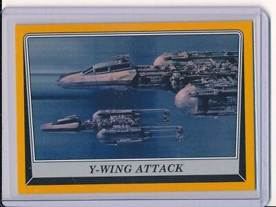 """2016 Star Wars Rogue One Mission Briefing #59 """"Y WING ATTACK"""" GOLD #/D 44/50"""