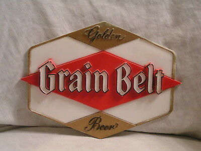1954 Grain Belt Plastic Sign From The Minneapolis Brewing Co