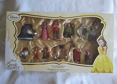Disney Store Limited Edition Beauty and the Beast Sketchbook Deluxe Ornament Set