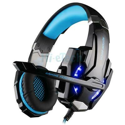 2.2M G9000 3.5mm Stereo Gaming Headset LED Headphone w/Mic for Desktop Laptop US