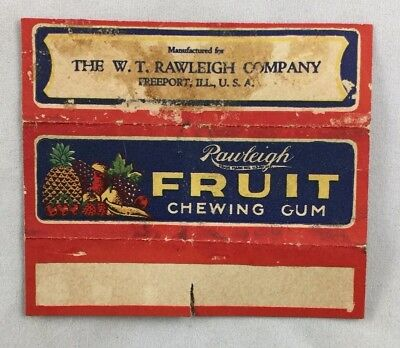 Antique Gum Wrapper Rawleigh Fruit Chewing Gum Freeport Illinois
