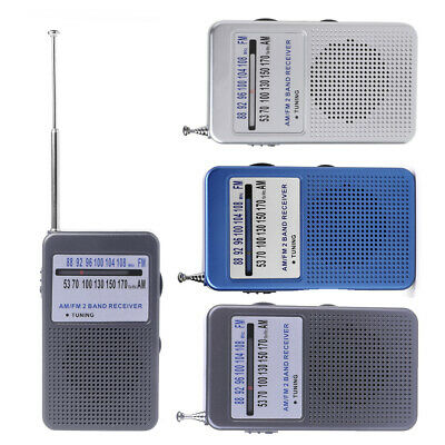 Portable AM/FM 2 Band Digital Display Pocket Radio Receiver Support Stereo Mode