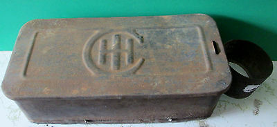 Antique I H C Tool Box With Oil Can Holder International Harverster Company