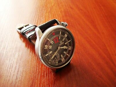 Omega Aviator's Military Style Swiss Vintage Pocket Watch Movement