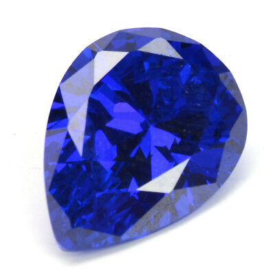 Unheated 16.87ct Royal Blue Sapphire 13x18mm Pear Cut Loose Gemstone Jewellery