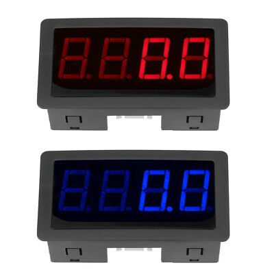 Red/Blue 4 Digital LED Tachometer RPM Speed Meter w/Hall Sensor NPN Hot