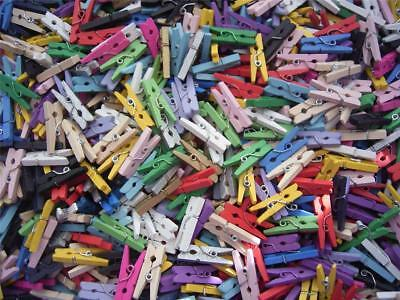 BB MINI WOOD PEGS GRAB BAG mixed pack of 50 craft clip 25mm wooden photo
