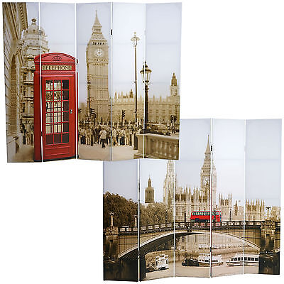Foto-Paravent Retro, London, Paravent Raumteiler Trennwand 180x200cm