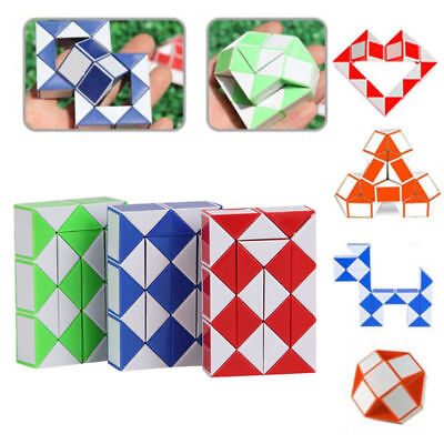 Snake Rubiks Magic Ruler 3D Cube Game Puzzle Educational Toy Party Travel Gift