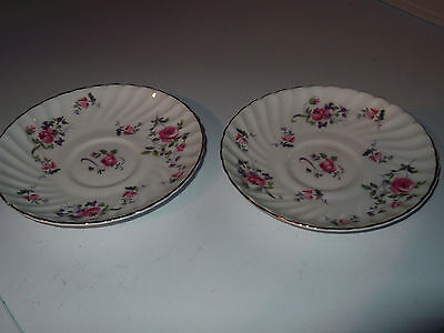 Two Royal Adderley  [ Ridgways]  Saucers In Fragrance Pattern