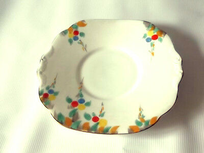 1937 - 57 Collingwoods  Twin Handled Bread Plate  With Stylistic Flowers