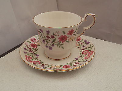 Windsor China Cup And Saucer In Spring Meadow Pattern Both Factory Seconds