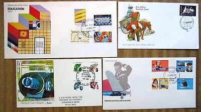 1970s  Commemorative 1st Day Covers:  LOT  OF  4