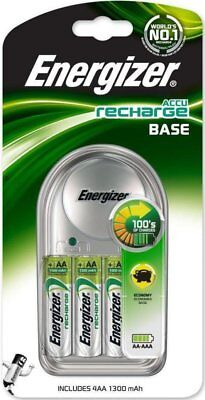Energizer Base AA/AAA Charger with 4 x AA 1300mAh Rechargable Batteries